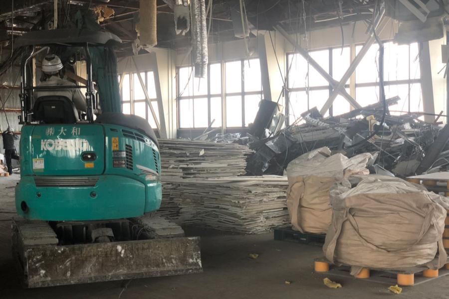 工場の内装解体工事 その3